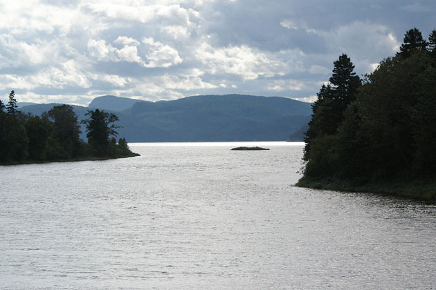 Confluence of the Saguenay and Saint Margaret River